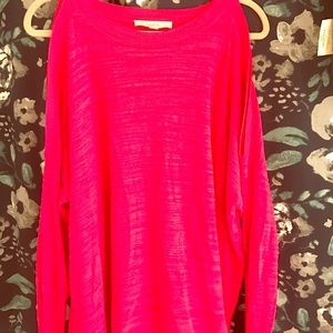 Long sleeve loft key hole shoulder sweater